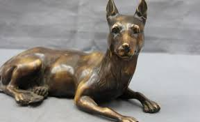 guard dog statue free shipping s3443 8 refined copper bronze lucky guard dog