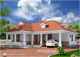 kerala style single floor house plan single floor house front