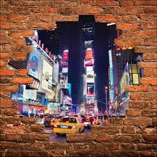 stickers trompe oeil mural sticker mural trompe l u0027oeil new york taxi art déco stickers