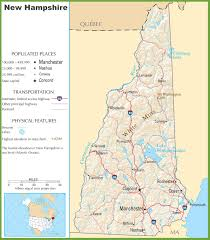 map usa new hshire new hshire state maps usa maps of new hshire nh