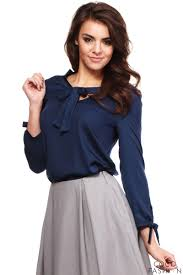 bow tie blouse blue cut out bow tie blouse with sleeves