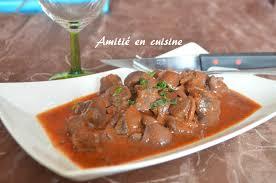 cuisiner rognon de boeuf rognon de boeuf en sauce amitie en cuisine