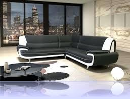 canapé d angle noir simili cuir canape d angle noir et blanc canapac dangle cado bicolore noir blanc
