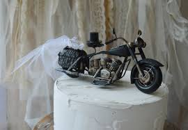 harley cake topper motorcycle ring holder pillow cake topper ring bearer harley