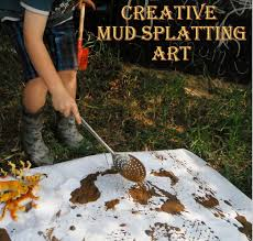 adventures at home with mum mud painting its u0027process u0027 art for