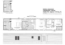 3 Bedroom Trailer Floor Plans by 3 Bedroom Floor Plan 2404 Hawks Homes Manufactured U0026 Modular