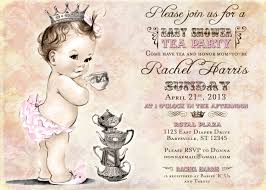 tea party theme baby shower invitations diaper tea party baby