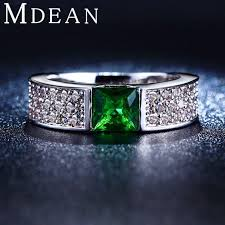 green fashion rings images Best mdean emerald rings for women green white gold plated women jpg