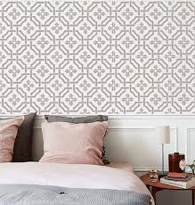 wall stencils patterns flowers trees by oliveleafstencils