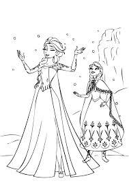 frozen snow coloring pages pictures elsa games books
