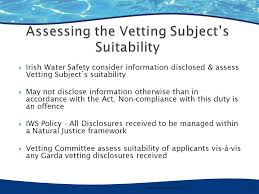 Garda Vetting U0026 The National Vetting Bureau Acts 2012 To 2016 by Alison Elstone Iws Proposed Changes To Legislation And It U0027s Effect