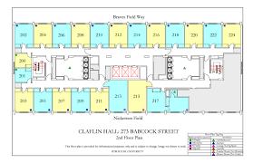 University Floor Plan Claflin Hall Housing Boston University