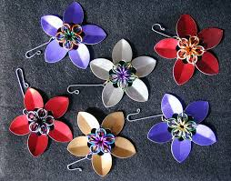 mail flowers chain mail pendant ornament scale flowers by chainmailmd on