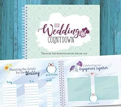 bridal gift record book wedding countdown book a keepsake journal to record the best