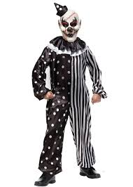 killer clown costume black and white killer clown costume