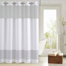 Brown And White Shower Curtains Buy Hookless Shower Curtains From Bed Bath U0026 Beyond