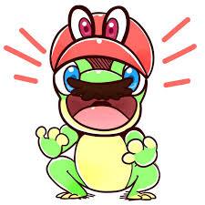 frog mario super mario odyssey meme