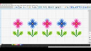 cross stitch pattern design software maria diaz cross stitch software tutorial basic borders youtube