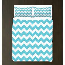 aqua and white chevron duvet bedding set custom any colors y