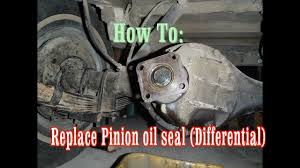 replacing a leaky pinion oil seal differential fj40 land cruiser