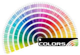 palette pantone pantone color palette semicircle stock illustration illustration