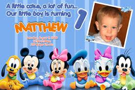mickey mouse invitation birthday party minnie disney photo cards