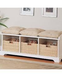 christmas shopping sales on white wood storage shoe bench seat