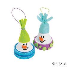 ceramic flowerpot snowman christmas craft kit 12 pk party supplies