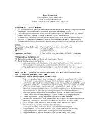 Sample Manual Testing Resumes by 100 Sample Testing Resumes Sample Resume For Experienced Manual