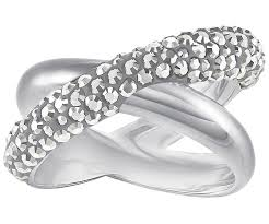 palladium jewelry crystaldust cross ring gray palladium plating jewelry
