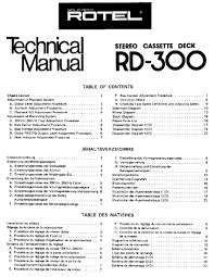 rotel rd 300 service manual parts catalog circuit diagram