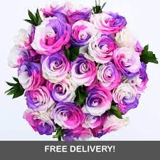 colored roses unicorn magic 12 or 24 unicorn colored roses 1 800 blooming