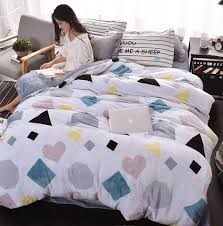 Beautiful Duvet Covers Clouds Gray Thick Fleece Bedding Set Duvet Cover For A Beautiful