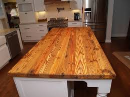 pine kitchen islands reclaimed pine island wood countertop in waxhaw nc farmhouse