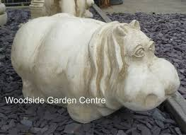 large hippo animal garden ornament woodside garden centre pots