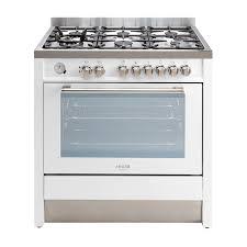 Euro Cooktops Euro Emd900fwh 90cm White Dual Fuel Stove Sa Appliance Warehouse