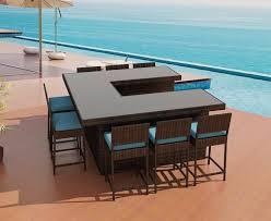Outdoor Bar Patio Furniture - resort collection orion u shaped bar set