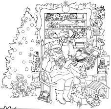 christmas coloring page santa kids coloring
