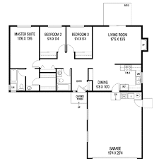 ranch style house plan 3 beds 2 00 baths 1152 sq ft plan 60 106