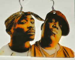 tupac earrings 2pac etsy