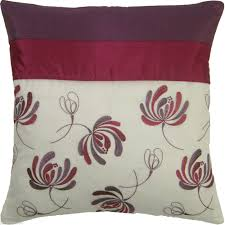 hudson bargain pair of voile u0026 faux silk cushion covers with