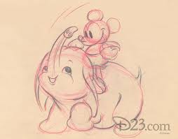 storyboard art from the never produced mickey mouse short spring