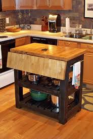 portable kitchen island with drop leaf drop leaf butcher block kitchen island within with wheels and with