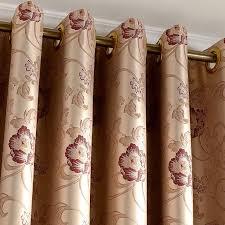 Brown Blackout Curtains Brown Jacquard Floral Leaf Bedroom Blackout Curtains