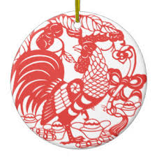 year of the rooster ornaments keepsake ornaments zazzle