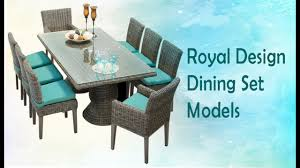 royal dining table sets contemporary wood glass metal