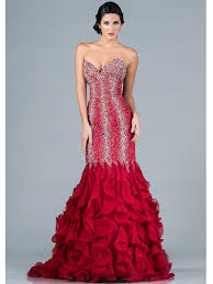 beaded and jeweled mermaid prom dress sung boutique l a