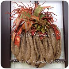Where To Buy Fall Decorations - fall wreath pumpkin wreath burlap pumpkin wreath deco mesh