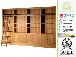 traditional solid oak 8ft x 12ft heavy duty library bookcase with