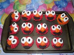elmo cupcakes elmo cupcakes recipe just a pinch recipes